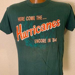 1984 Miami Hurricanes Single Stitch Shirt (Fits S)